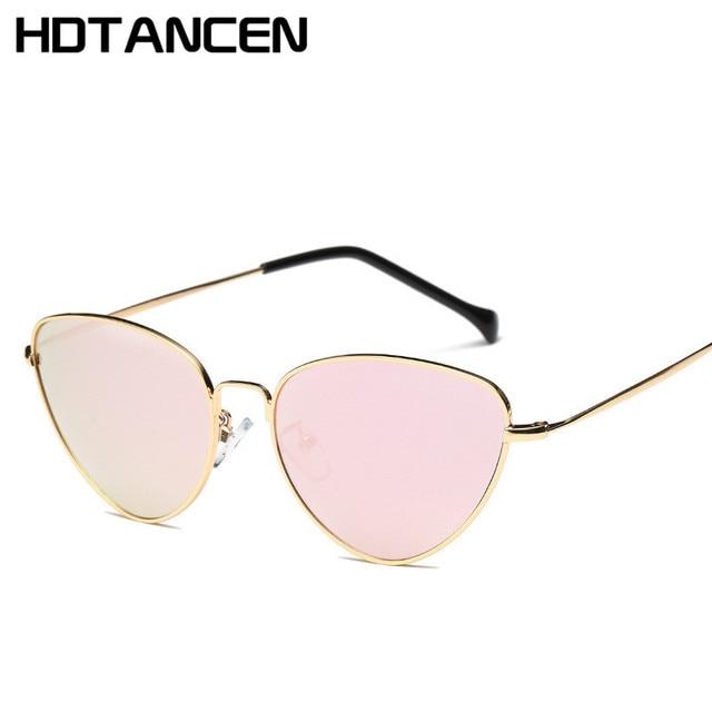 HDTANCEN Cat Eye Femmes lunettes de Soleil Teintées Couleur Lentille  Vintage En Forme de Soleil Lunettes ddeb1fb978b7
