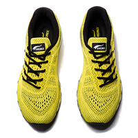 ONEMIX Men's Yellow Sport Running Shoes Breathable Road Running Shoes Outdoor Male Athletic Sport Walking Air Cushion Sneakers