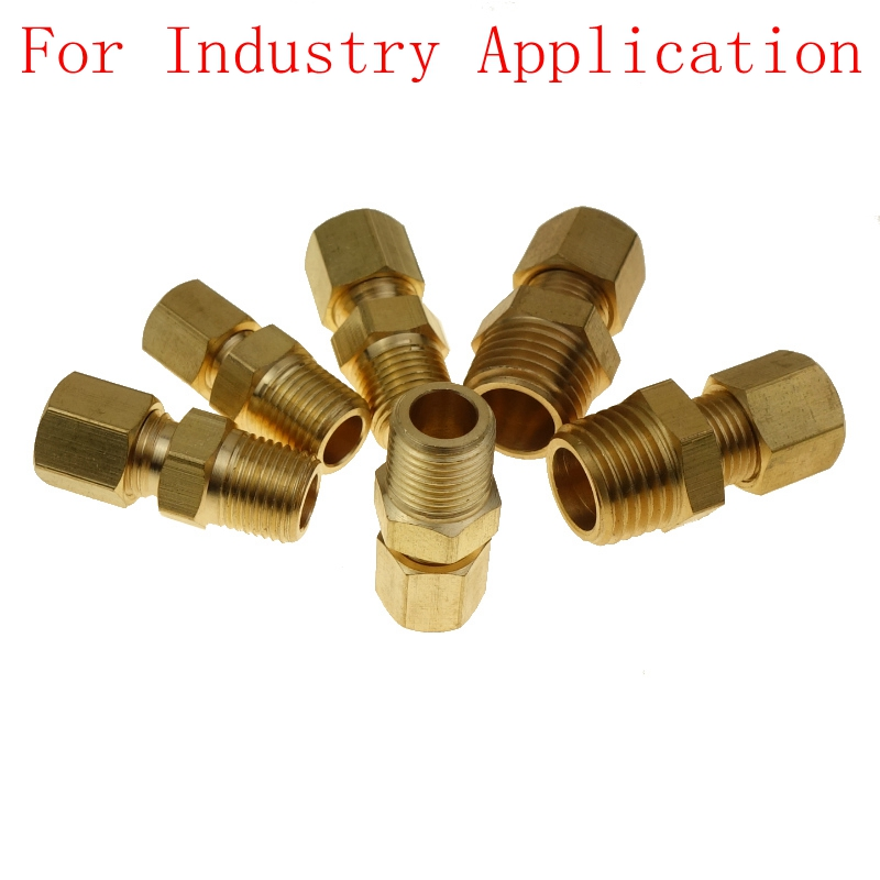 """Straight Union Connector Brass Compression Fitting 5//16/"""" OD Equal For Water"""