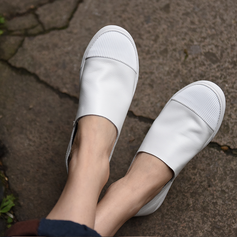 Artmu New Casual Leathe Shoes White Shoes Soft Soles Loafers Handmade Flat Women Shoes 1632Artmu New Casual Leathe Shoes White Shoes Soft Soles Loafers Handmade Flat Women Shoes 1632