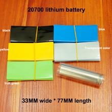 100pcs/lot Lithium battery outer packaging tube film 20700 PVC heat shrinkable sleeve shrink