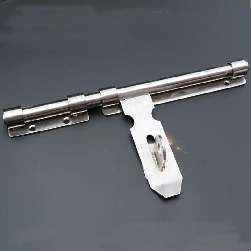 цены High quality stainless steel door bolt Padlock Thickened left right bolt