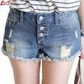 2016 moda de verão chegam novas mulheres buraco curto Denim Shorts meninas Plus Size mulher vestuário YL197