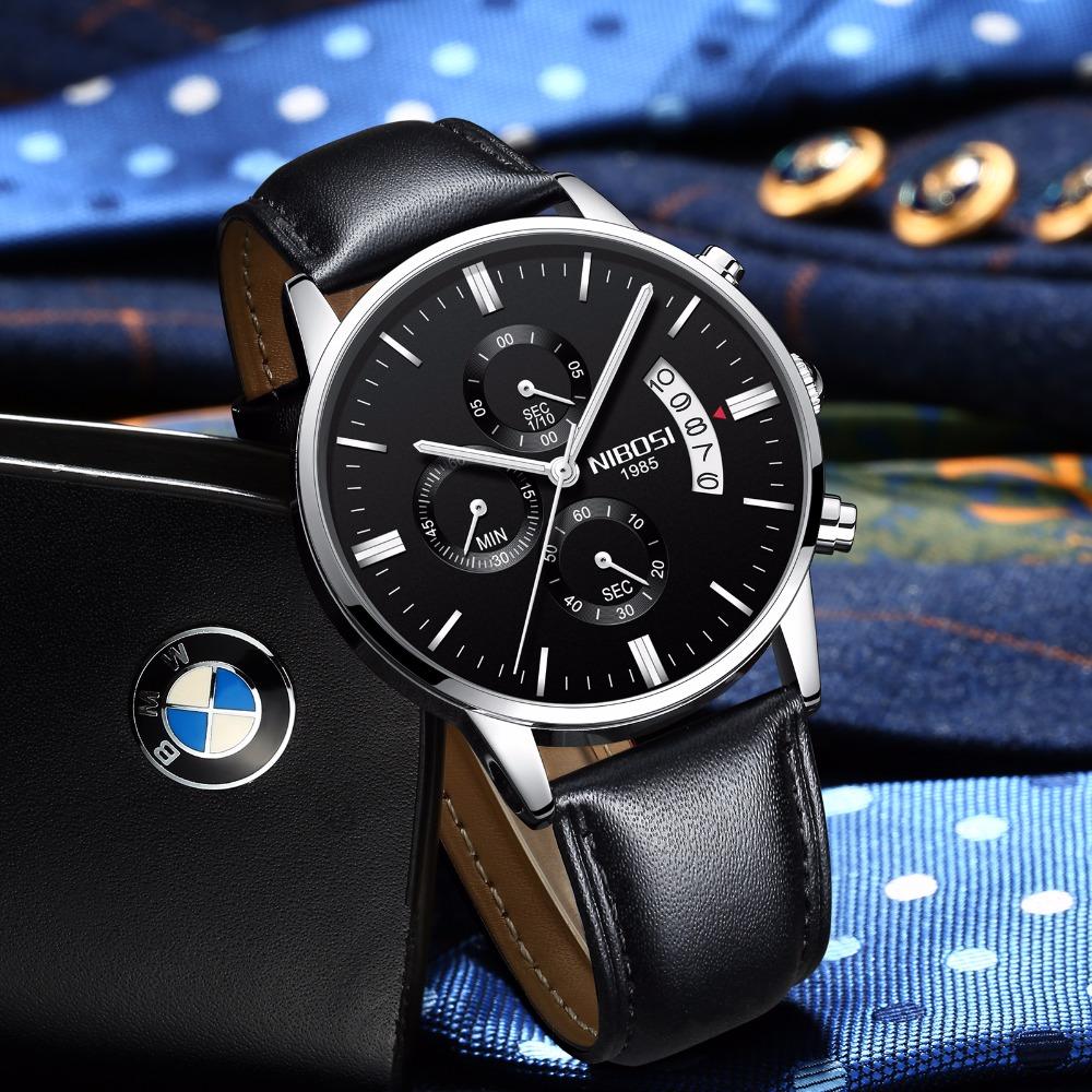 Relojes de hombre NIBOSI Relogio Masculino, relojes de pulsera de cuarzo de estilo informal de marca famosa de lujo para hombre, relojes de pulsera Saat 51
