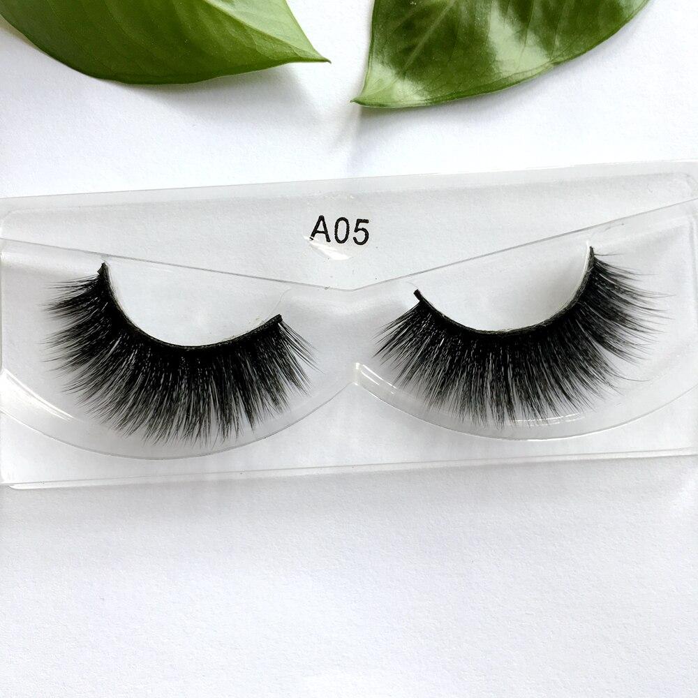 Wholesale 100% Handmade False Lashes Natural Long Lashes Thick Eyelashes Transparent Band