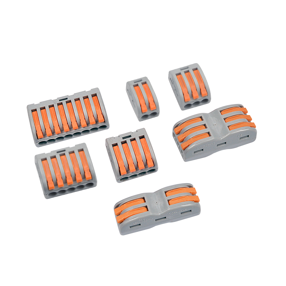 10-100pcs Universal  Wiring Cable Connector Terminal Block Conductor 222-412 413 414 415 418 SPL-2 3 Wire Connectors