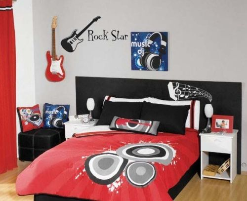 Camera Da Letto Rock : Rock star guitar adesivo vinile music band camera da letto per