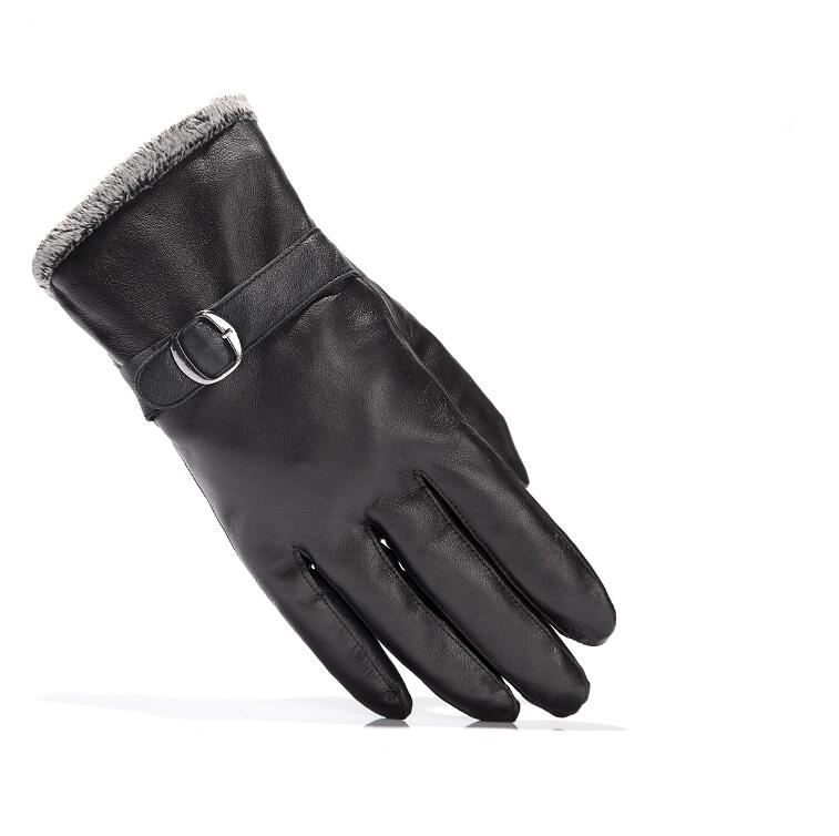 NEW Leather winter guantes warm sheepskin Gloves men gloves simple prevent cold for