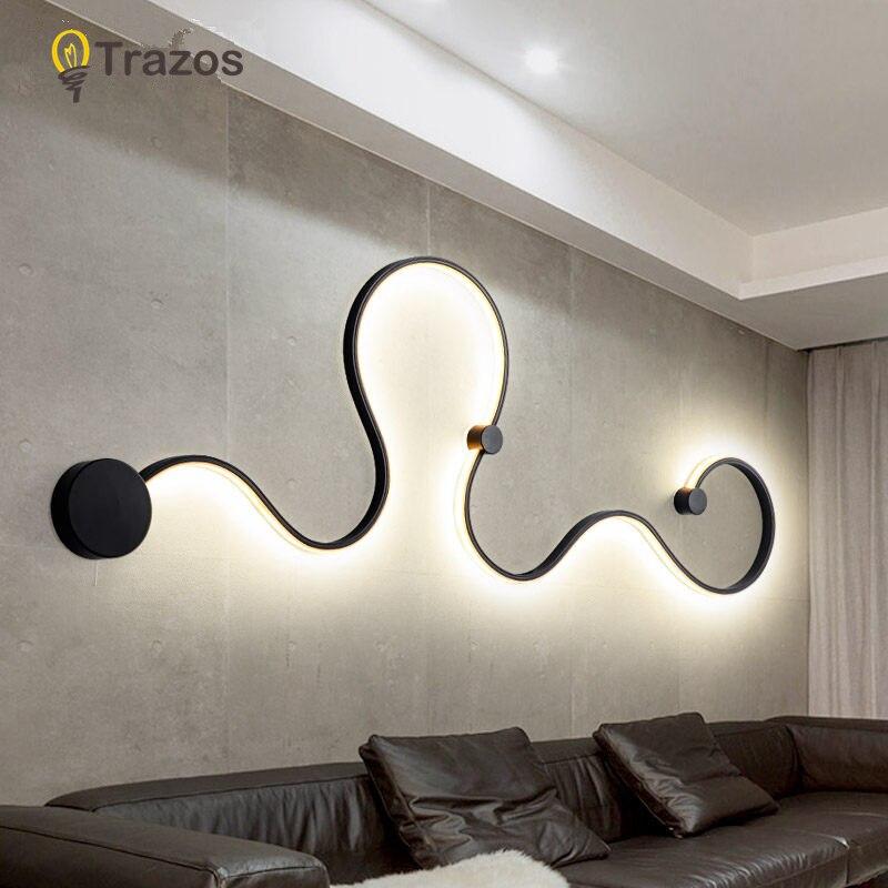 Wand Lampe Lamparas De Techo Pared Applique Murale Leuchte Plafonnier Led Moderne Glanz Wand Licht Wandlamp Decke Hause Licht