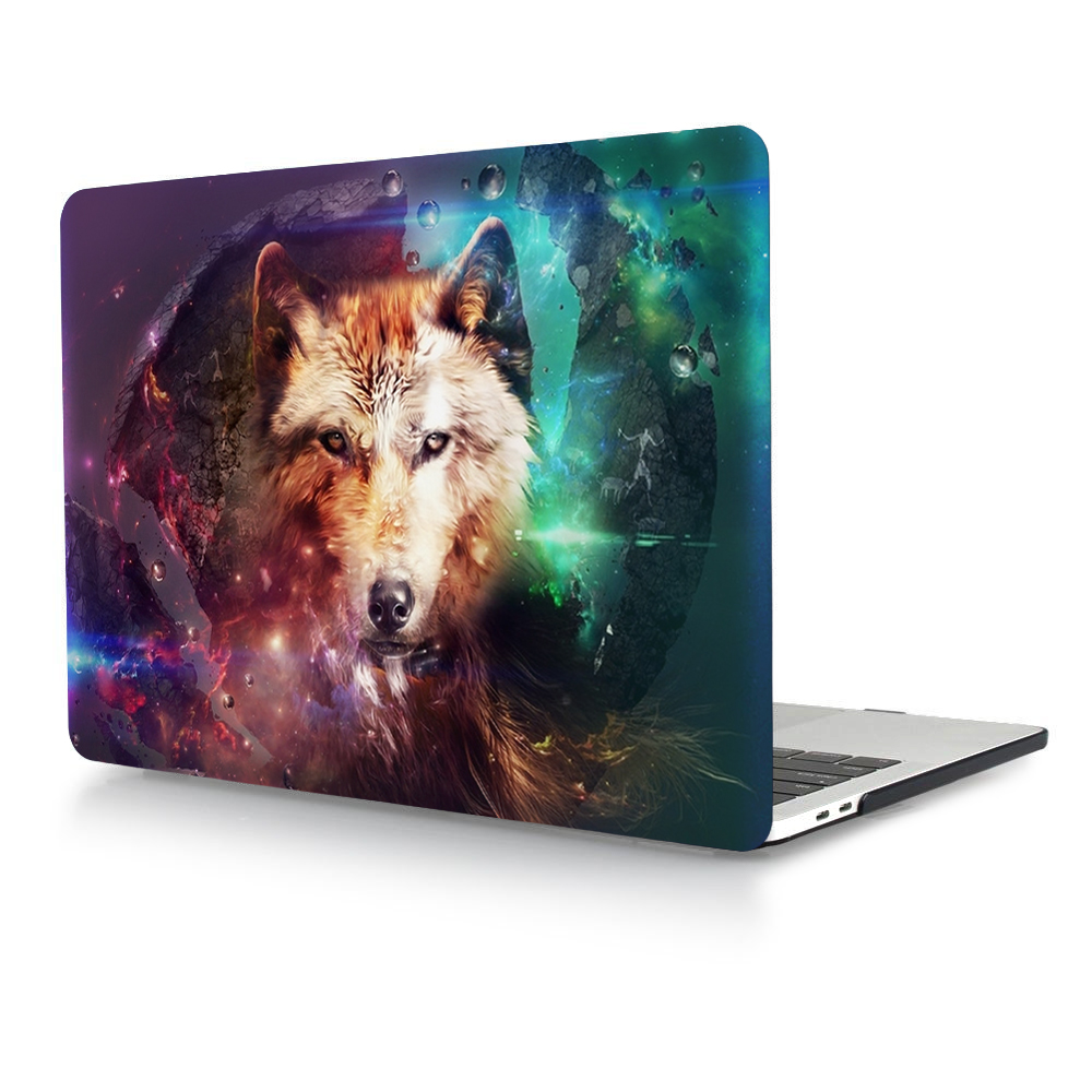 HRH Cartoon Animal Laptop Body Shell Protective Hard Case Sleeve for Macbook Pro Retina13 12 15 Air13 11 New Pro Touch Bar 13 15