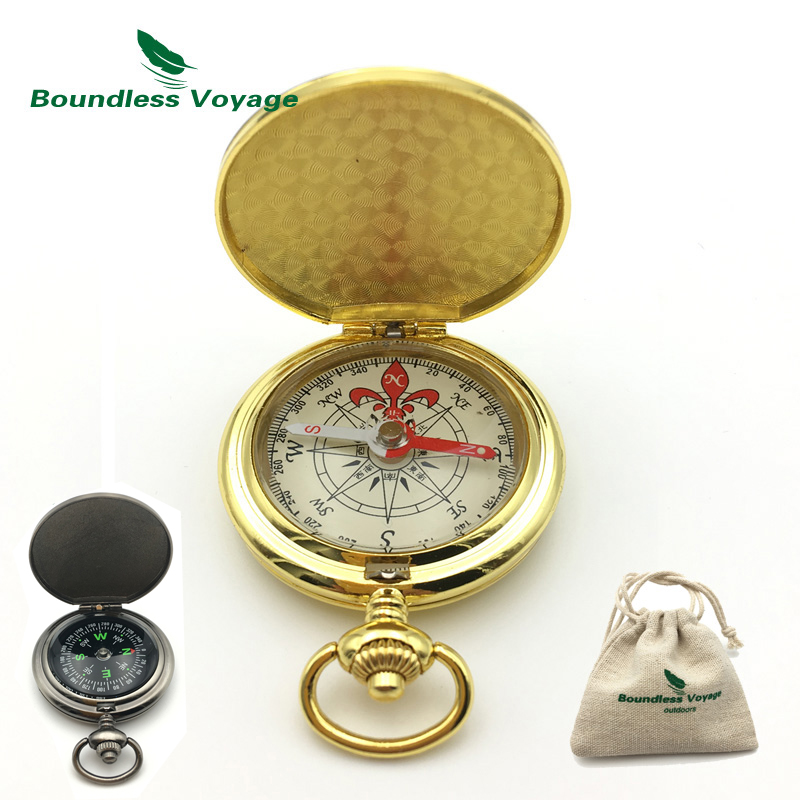 Boundless Voyage Outdoor Portable Camping Compass Multi-funtional Mini Fluorescence Keychain Compass BVC01/02