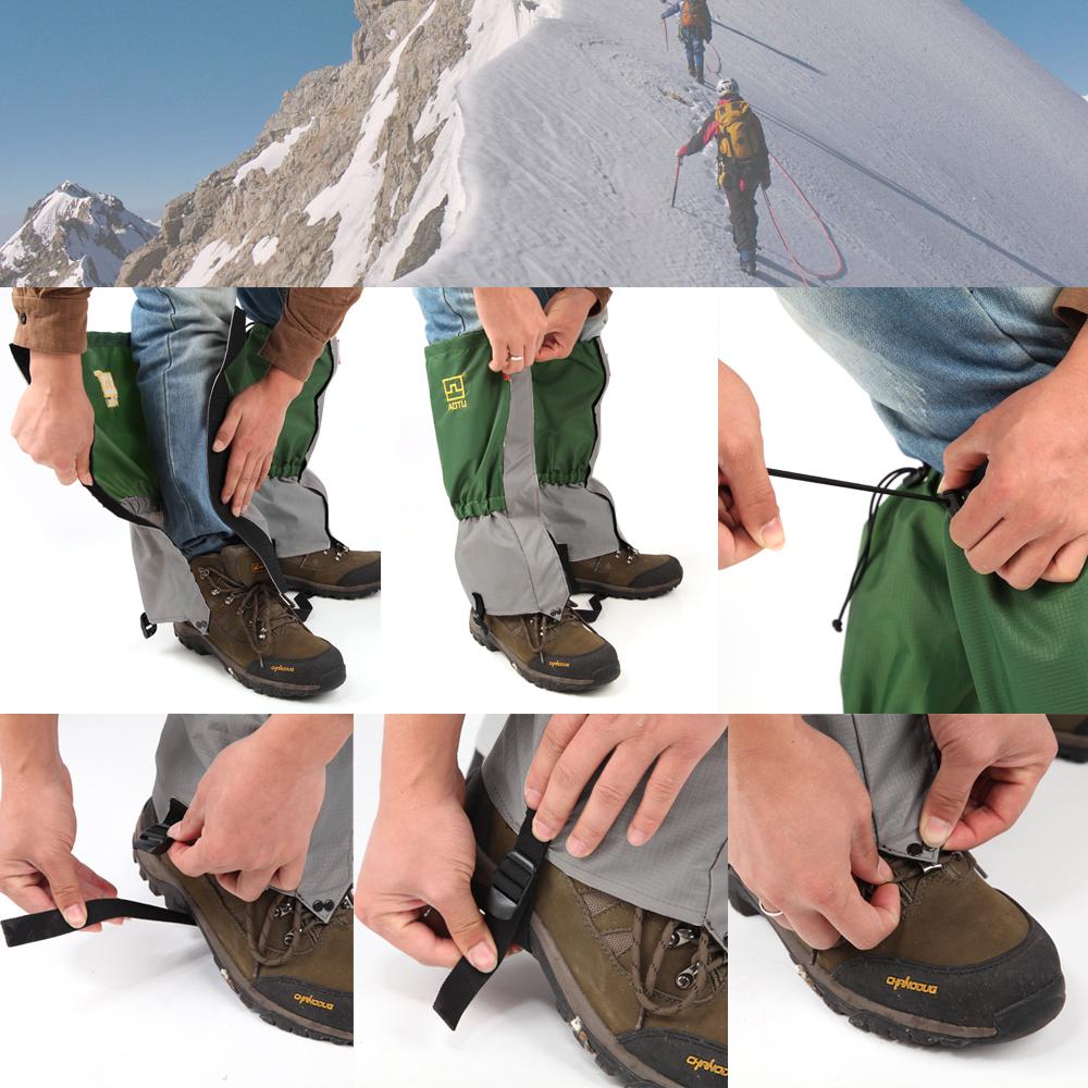 TOMOUNT Unisex Waterproof Legging Gaiter Leg Cover Camping Hiking Ski Boot Travel Shoe Snow Hunting Climbing Gaiters Windproof 6