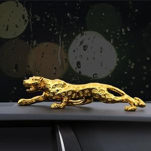 Image 3 - 자동차 장식품 레오파드 입상 멋진 자동차 장식 자동차 인테리어 대시 보드 수지 공예 홈 인테리어 액세서리 선물