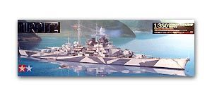 TAMIYA 78015 World War II German Navy Bismarck Tilpitz battleship