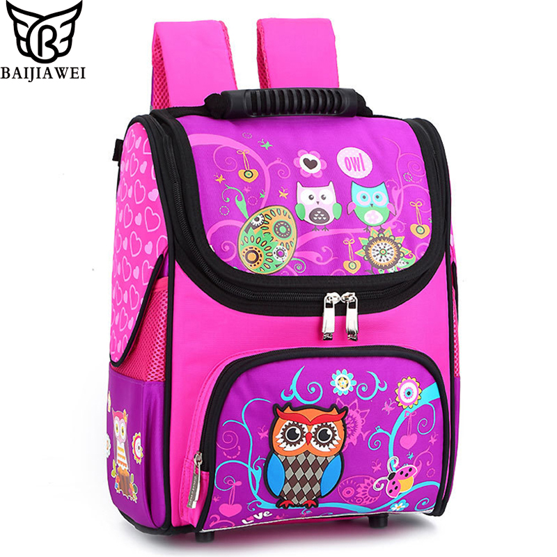 BAIJIAWEI Children Wear resistant School Bags Kids Orthopedic Backpack 7 11  Year old Light Waterproof Child Shoulder Backpack-in School Bags from  Luggage ... 7c3d7c01fe526