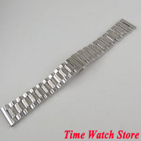 PARNIS 22mm 316L stainless steel watch band watch strap metal bracelet butterfly buckle Fit men's watch wristwatches S2