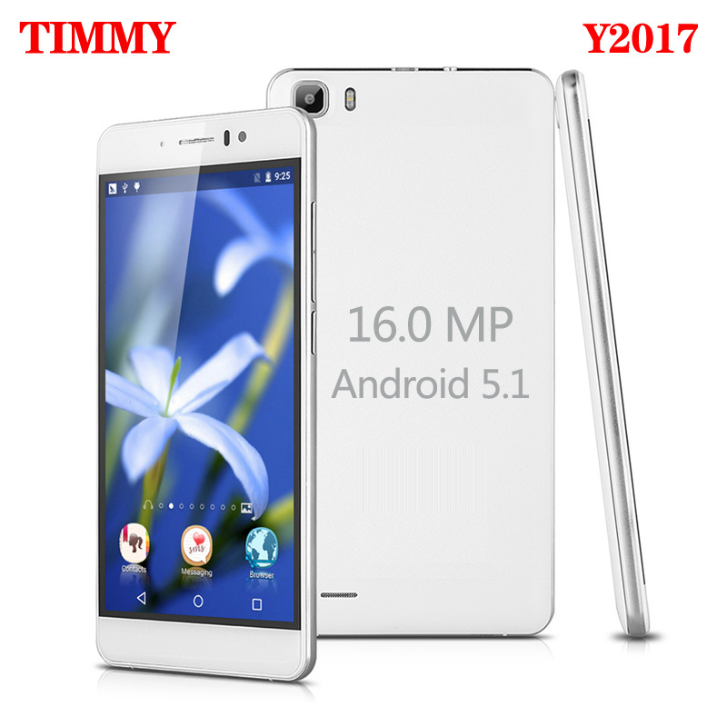 TIMMY Original Y2017 5.5 inch screen Mobile Phone 16MP camera 5.5 inch screen MTK6580 Quad Core Dual Sim Cell Phone GSM/WCDMA