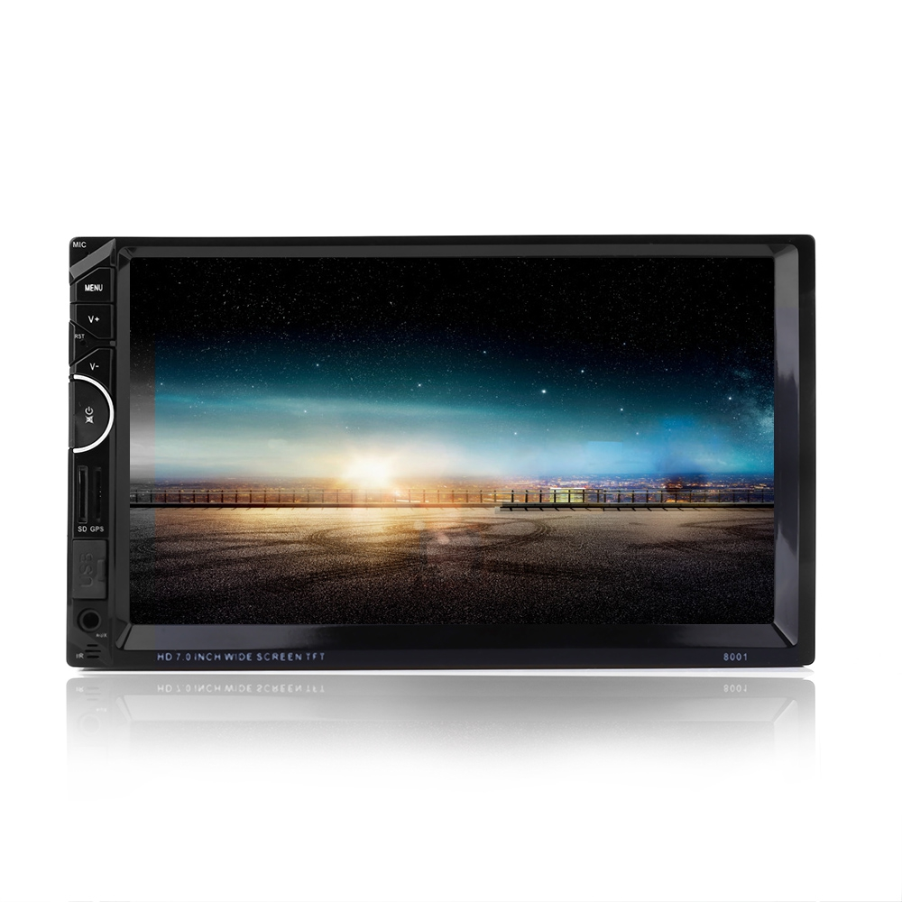 8001 Newest Car Multimedia MP3 MP4 MP5 DVD Player+GPS Navigation 7 HD Bluetooth Radio Player Support RDS AM FM Rearview Camera joyous j 2611mx 7 touch screen double din car dvd player w gps ipod bluetooth fm am radio rds