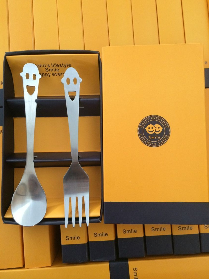 100Box Personalized Wedding Present For Guests,Stainless Steel Spoon And Fork Set Favor,Customized Marriage Party Gift With Box