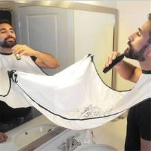 120x77cm Man Bathroom Apron Beard Apron Hair Shave Apron for Man Men's Facial Bear Barbe Waterproof Polyester Household Cleaning(China)
