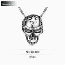 Collar Pendiente del cráneo, CH TS Maxi Enlace Punk de Titanio Para Hombre, Europa Y Estados Unidos La Venta de Rock hombre Collar Pendiente Del Cráneo