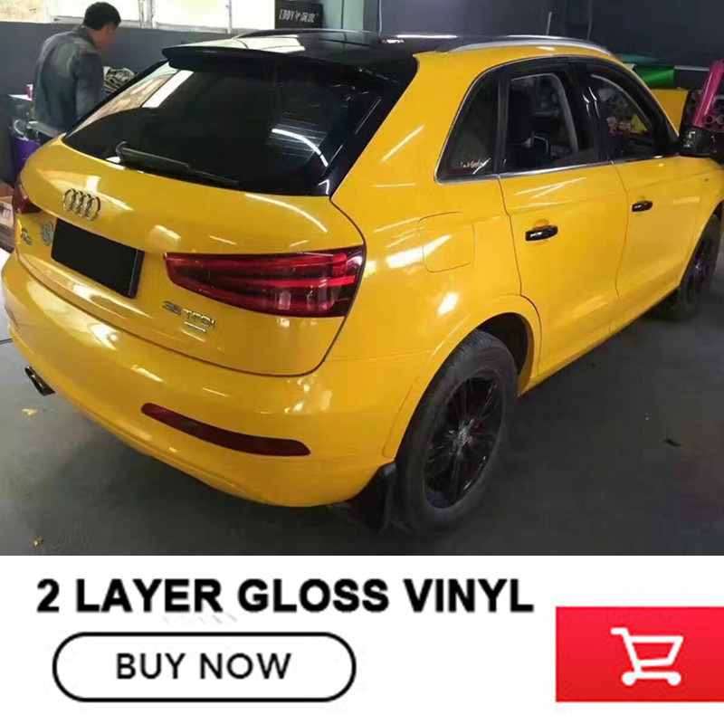 yellow vinyl car wrap SUPER Gloss Vinyl Wrap with air release FOR vw passat b6 for audi change color film free ship turbo k03 29 53039700029 53039880029 058145703j n058145703c for audi a4 a6 vw passat 1 8t amg awm atw aug bfb aeb 1 8l