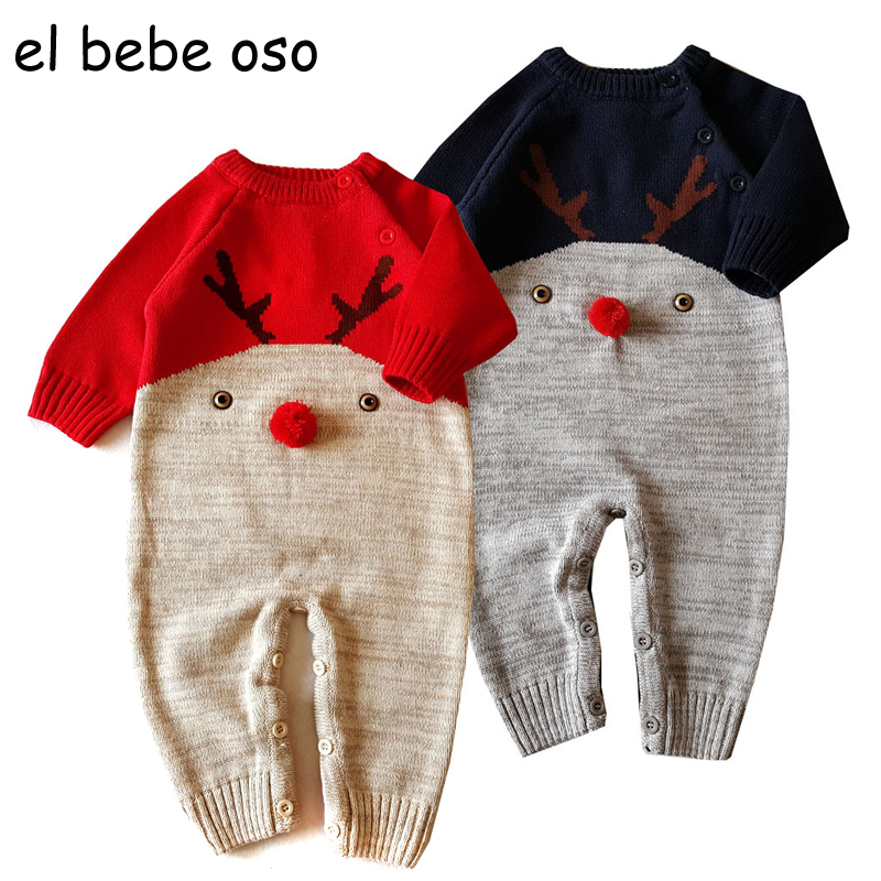 el bebe oso New Overalls Baby Rompers Sweater Newborn Bebe Jumpsuits Cotton Unisex Children Knit Bib Pants Infant Clothes XL37 baby rompers newborn clothes baby clothing set boys girls brand new 100%cotton jumpsuits short sleeve overalls coveralls bebe