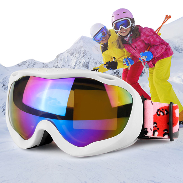 d426925a5fd Snowboard Ski Goggles Snowmobile Women Men Double Lens UV400 Anti Fog  Skiing Snowboarding Glasses Snow Mask Eyewear Protection