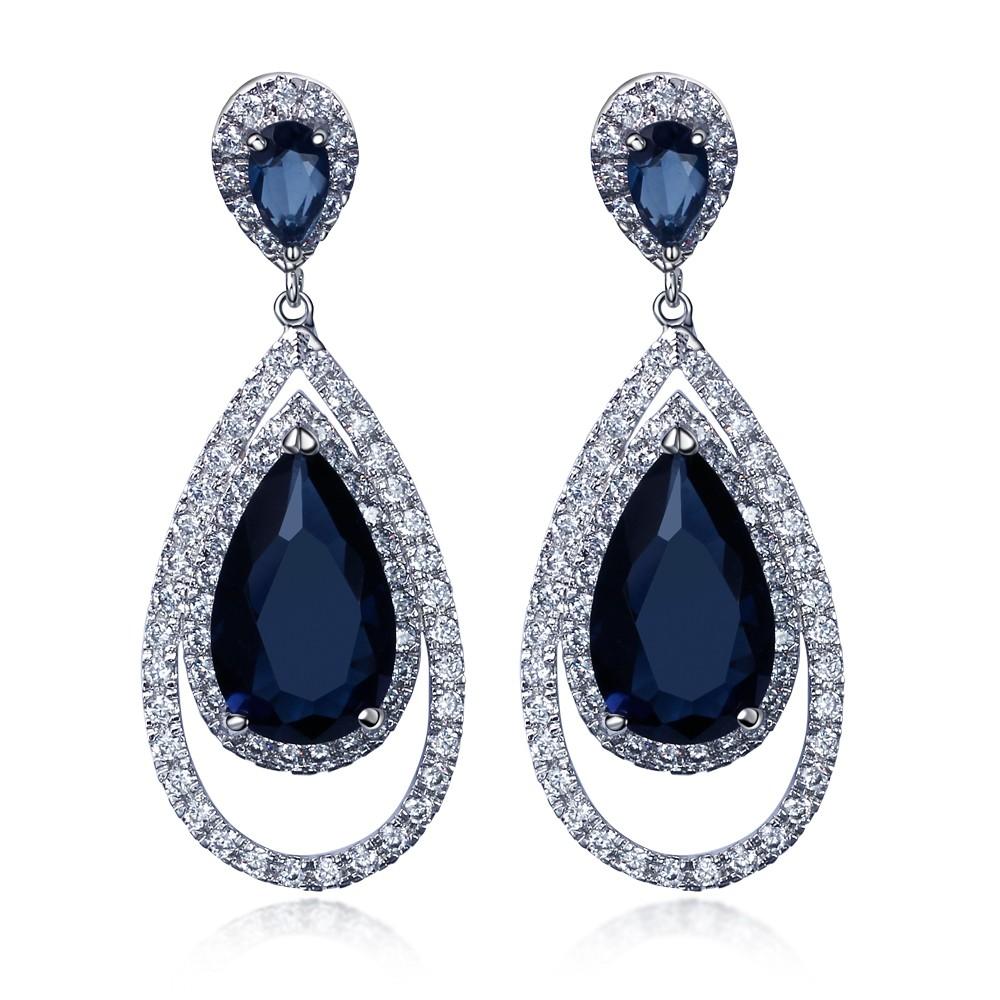 Women Earring Long Drop Earrings Gold Color With Cz Stone Classic Style Fashion Jewelry High