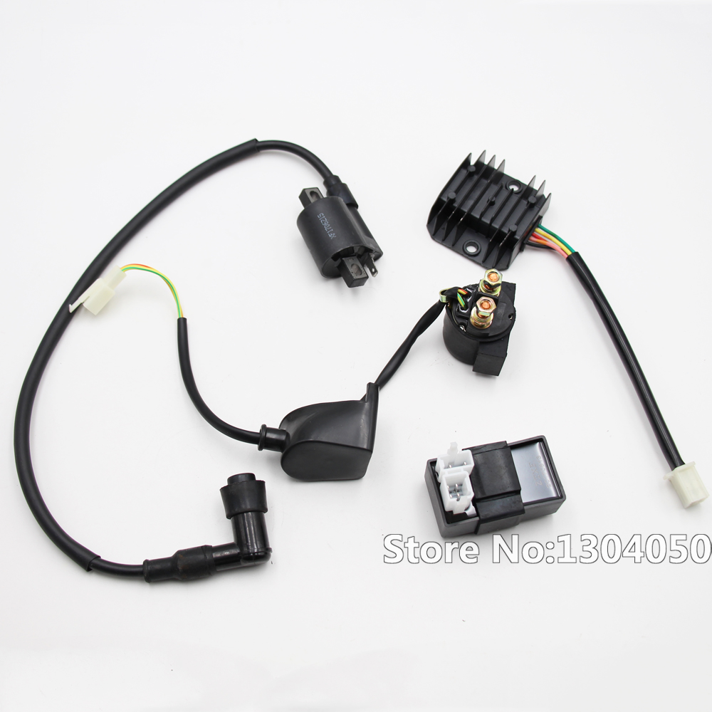 Regulator Rectifier Relay Ignition Coil 6 Pin CDI Box Kit For ...