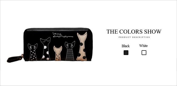Cartoon Cat Leather Purse