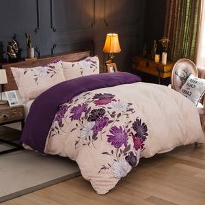 Image 2 - LOVINSUNSHINE zestawy pościeli z kołdrą kołdra okładka królowa duży rozmiar tekstylia domowe kwiat kołdra z nadrukiem i zestawy pościeli AB #118