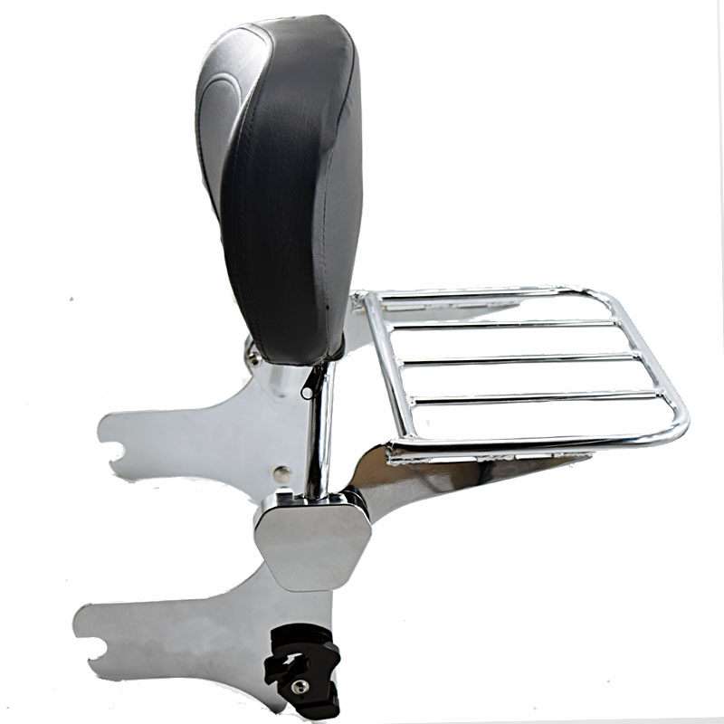 Motorcycle Backrest Sissy Bar Luggage Rack For Harley Road King Street Glide Electra Classic FLHT FLHX HD FLHTC Touring Models motorcycle chrome luggage rack for harley touring road king street glide cvo road glide street electra glide flhr 2009 2017 16
