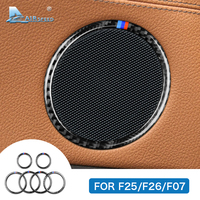 Airspeed for BMW F25 X3 X4 F26 X4 BMW F26 F07 Sticker for BMW X3 F25 Carbon Fiber Interior Trim Stickers Car Door Speaker Ring