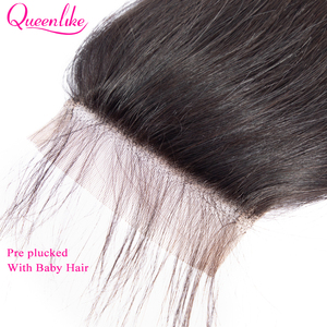 Image 4 - Queenlike ישר 4*6 Kim K סגירת מראש קטף עם תינוק שיער קו שיער טבעי ברזילאי רמי שיער טבעי 4x6 תחרה סגירה