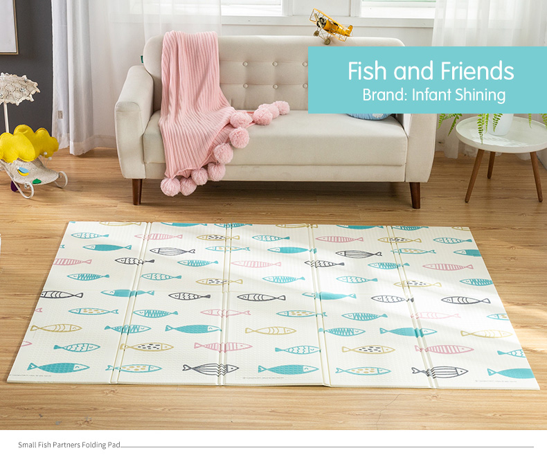 HTB1TPDhXgFY.1VjSZFqq6ydbXXaO Infant Shining Baby Play Mat Xpe Puzzle Children's Mat Thickened Tapete Infantil Baby Room Crawling Pad Folding Mat Baby Carpet