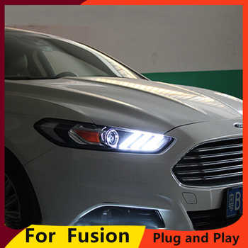 KOWELL Car Styling For  Mondeo Headlights 2013 2014 2015 Fusion LED Headlight Original DRL Bi Xenon Lens High Low Beam Parking - DISCOUNT ITEM  20% OFF All Category
