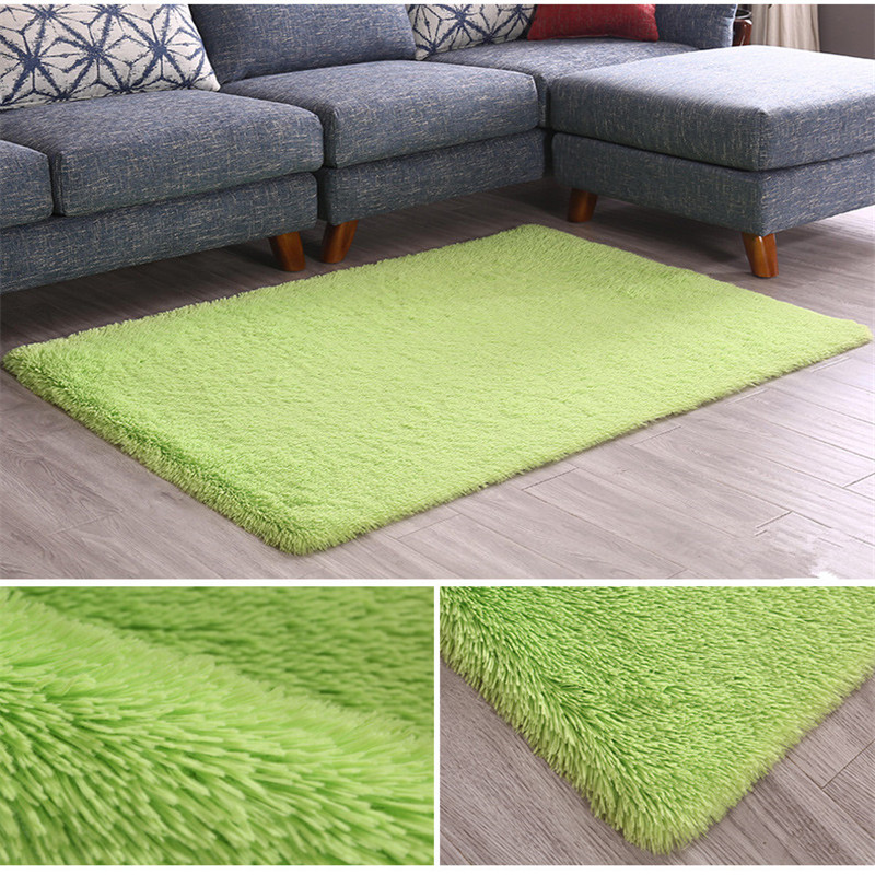 Fluff Carpet Living Room Bedroom Room Rectangular Floor Mat Thickened Washed Silk Hair Non-slip Blanket Bedroom Carpet Yoga Rug