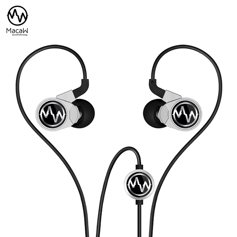 ФОТО Macaw GT100s HiFi In-Ear Super Bass Headset Earbuds Earphones With Microphone On-Cord Control Changeable Tuning Click