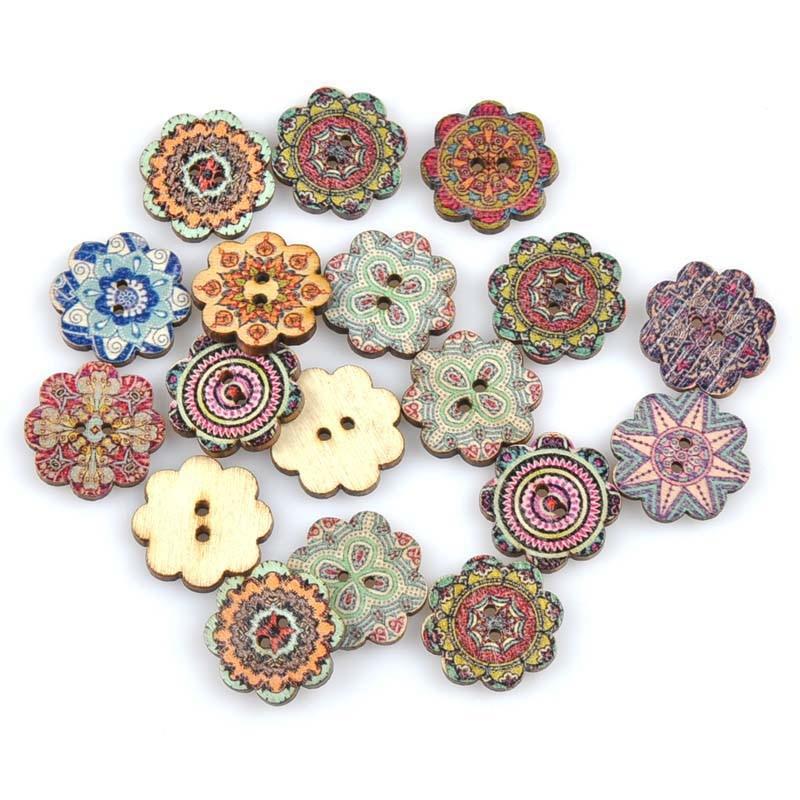 20 шт./лот ручная работа деревянные пуговицы окрашенные Швейные аксессуары популярные швейные изделия - Цвет: 6