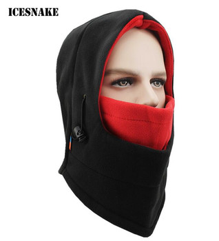 ICESNAKE Winter Warm Motorcycle Full Face Mask Windproof Thermal Fleece Balaclava Men Women Sports Neck Snowboard Ski Mask windproof winter ski snowboard balaclava thermal men women fleece cycling face mask bike bicycle sport mask