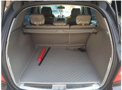 De alta qualidade! Conjunto completo esteiras mala do carro para Mercedes Benz ML 63 W164 AMG 2011-2005 tapetes duráveis boot forro de carga para ML63 2010