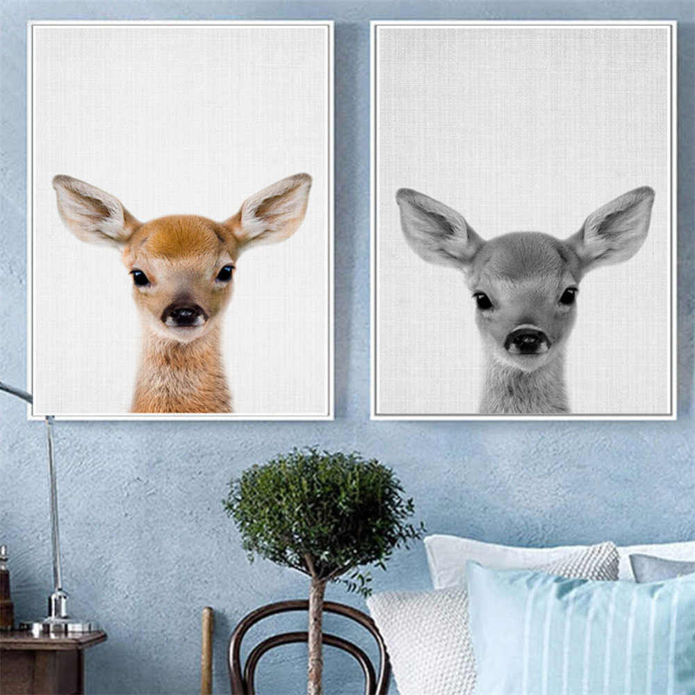 Creative Animal Canvas Oil Painting Frameless Poster Print Abstract Wall Art Picture Decorative Paintings Living Room Home Decor