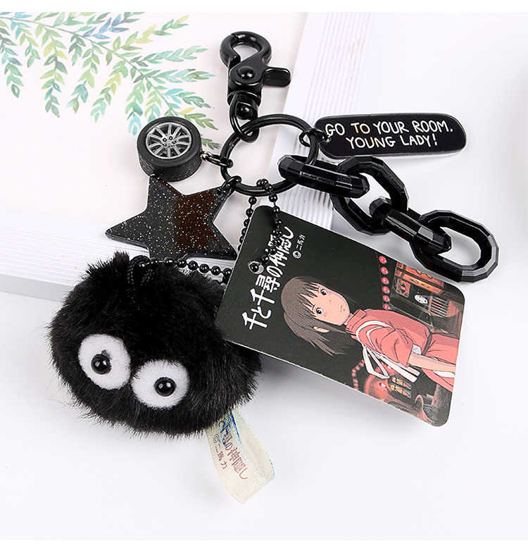 Linda bola de Carvão de a Viagem de Chihiro Keychain/Keyring o presente para sua namorada, esposa ou filhos ea si mesmo