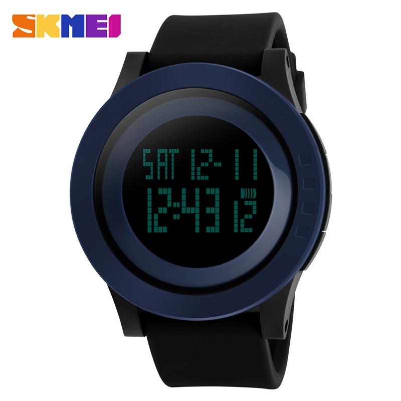 10798e7942c SKMEI 1142 Homens Esportes Militares Relógios Moda Silicone À Prova D  Água  LED Digital Relógio Para Homens Relógio de Pulso