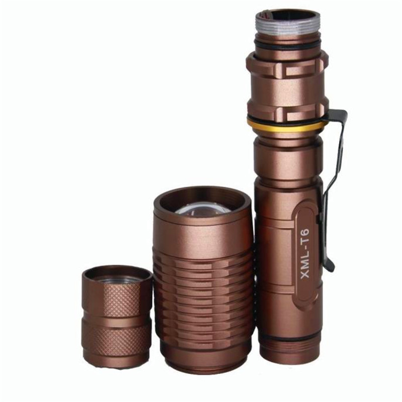 Lantern on a bicycleTactical 4000LM 18650 XML T6 LED Zoomable Bronze Flashlight Torch Lamp accesorios bicicleta 170727