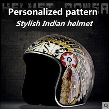 Free shipping Motorcycle Helmet Casco Open Face Verspa Indian Style capacetes ECE Approval Suitable for Europe helmet цена 2017