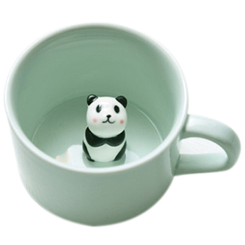 Creatieve kleine keramische melk mok met dieren leuke cartoon driedimensionale koffiekopje hittebestendig Celadon cup Panda