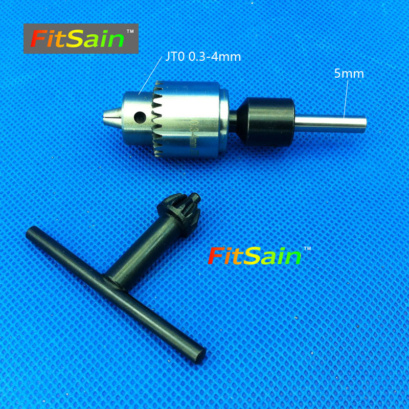 FitSain--shaft diameter 5mm mini drill chuck 0.3-4mm JT0 Connect Rod Power Tools Accessories drill press 12storeez плащ из искусственной кожи черный
