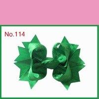 2015 Rejilla populares Arcos de la cinta con molinete/molino de viento Del Pelo Clips hoja de cinta de color puro con simetría del núcleo triangular 18 unids/lote